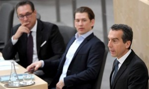 18.09.16 Heinz-Christian Strache, Sebastian Kurz, Christian Kern