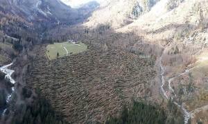 18.11.04 Val Vlentina (Valentintal), foresta devastata