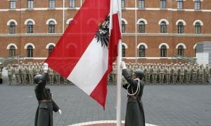18.11.10 Esercito, alzabandiera caserma Rossauer Vienna