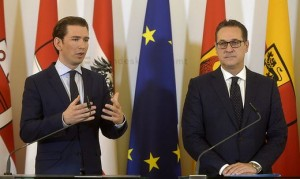18.11.28 Vienna, Sebastian Kurz e Heinz-Christian Strache (Mindestsicherung)
