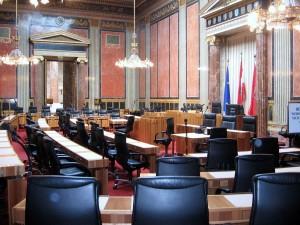 19.02.15 Sala del Bundesrat nel Parlamento di Vienna