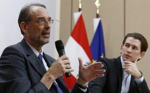 19.03.06 Heinz Fassmann (istruzione) e cancelliere Sebastian Kurz