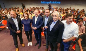 19.05.13 Elezioni Ue, Schieder, Gamon, Karas, Vilimsky, Voggenhuber, Kogler
