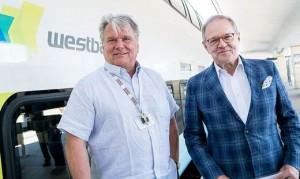 19.09.02 Hans Peter Haselsteiner (Westbahn) e Erhard Grossnigg (Augusta Holding)