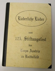 19.11.03 Liederbuch, Pennales Corps Austria, Knittelfeld