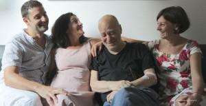 """Tommaso Guarino, terzo da sinistra, con Tindaro Granata, Mariangela Granelli e Francesca Porrini in """"La memoria che vedi"""" spettacolo presentato nella rassegna milanese """"Stanze"""""""