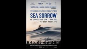 """La locandina del film di Vanessa Redgrave """"Sea sorrow, il dolore del mare"""" che presenta mercoledì a Siracusa"""