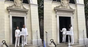 """La facciata della Tomba di Dante a Ravenna e l'inizio del """"Purgatorio""""  nella versione di Ermanna Montanari e Marco Martinelli"""
