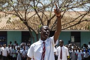 "Una scena del film ""The sky over Kibera"""