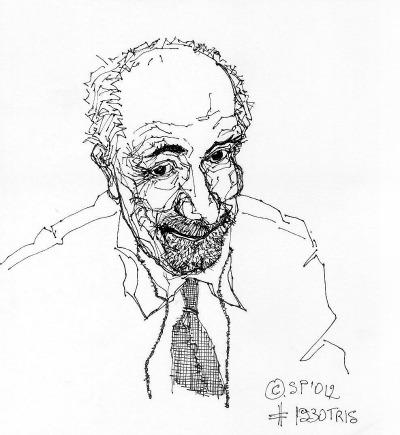 """Salvatore Piermarini, ink on paper dalla """"storia disegnata della fotografia"""", 2012"""