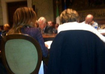 Incontro fra governoe parti sociali, 20 marzo 2012, scatto diffuso dalla Cgil via Twitpic