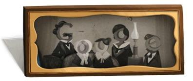 """Il """"doodle"""" dedicato da Google a Daguerre nel giornod el suo 224° compleanno"""