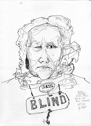 Salvatore Piermarini, Blind Woman, da Paul Strand. Gentile concessione dell'autore