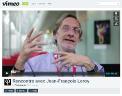 Screenshot della videointervista di Jean/Fran:ois Leroy