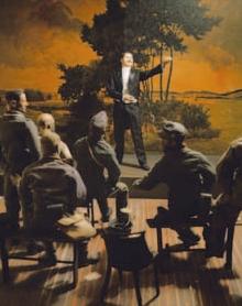 Paolo Ventura, Il famoso tenore Andrea Giglio si esibisce in un teatro di Pinerolo, 2005 Paolo Ventura