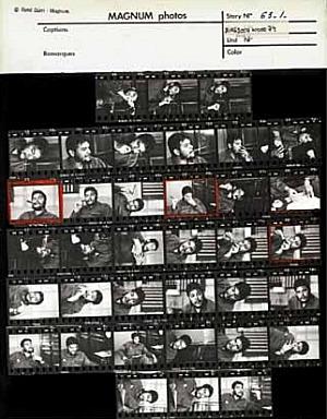 René Burri, foglio di provini, servizio su Che Guevara, gennaio 1963, René Burri / Magnum Phhotos, g.c.