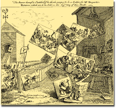 William Hogarth, The Battle of Pictures, 1743