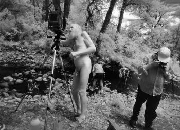 Ana Barrado, Il Maestro e i suoi allievi El Rito Creek, New Mexico, 1996 © Ana Barrado, g.c.