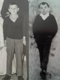 Fotoconfronto tra l'album di famiglia e un dettaglio della fotografia originale, Archivio Mario Giacomelli, Senigallia, g.c.