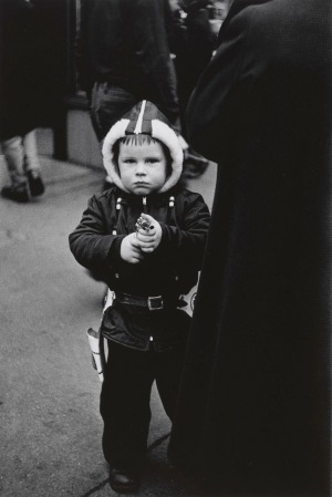 7. Kid in a hooded jacket aiming a gun, N.Y.C.RED2.1957