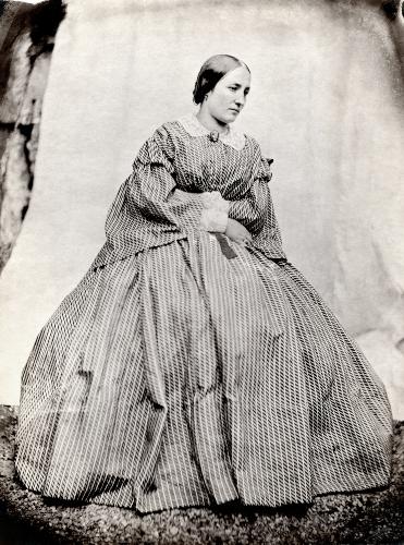 Giuseppe Venanzio Sella, La sorella Maria, 1858, carta salata