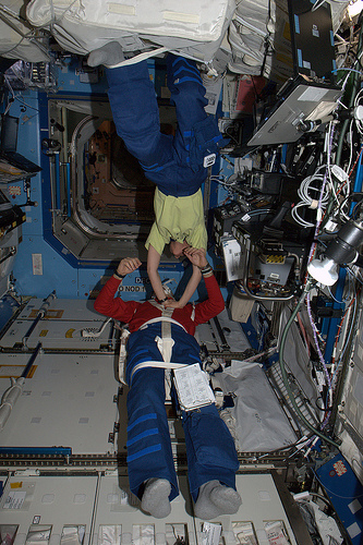 Ebbene si, stiamo verificando attrezzatura e procedure per RCP spaziale Credit: ESA/NASA