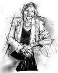 Lida Viganoni ritratta da Francesco Ardizzone
