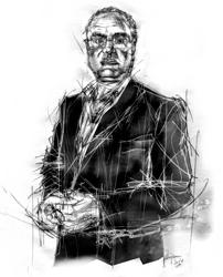 Giuseppe Bruscolotti ritratto da Francesco Ardizzone