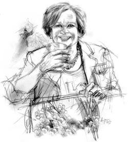 Elena Martusciello, nel disegno di Francesco Ardizzone