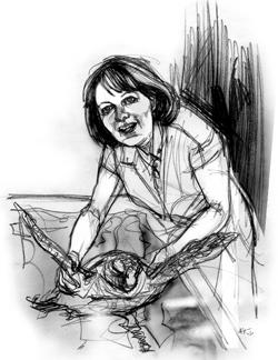 Flegra Bentivegna nel ritratto di Francesco Ardizzone