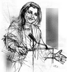 Annamaria Colao nel ritratto di Francesco Ardizzone