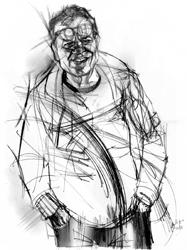 Oreste Pipolo nel ritratto di Francesco Ardizzone