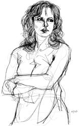 Giuliana De Sio nel disegno di Francesco Ardizzone