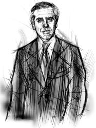Paolo Scuderi nel disegno di Francesco Ardizzone