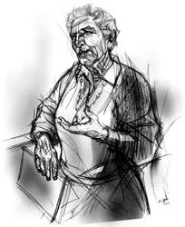 Luciana Viviani nel disegno di Francesco Ardizzone