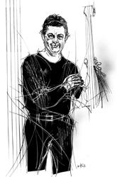 Rino Zurzolo nel disegno di Francesco Ardizzone