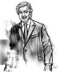 Vittorio Brun nel disegno di Francesco Ardizzone