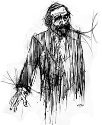 Mauro Giancaspro nel disegno di Francesco Ardizzone