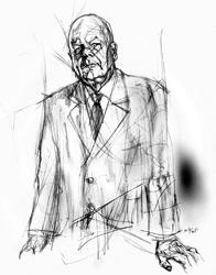 Luciano Cimmino nel disegno di Francesco Ardizzone