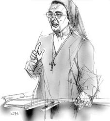 Suor Lidia nel disegno di Francesco Ardizzone