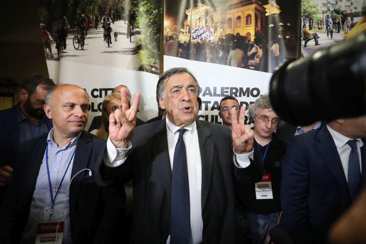Leoluca Orlando vince le elezioni
