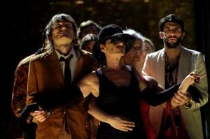 satyricon nella foto Michelangelo Dalisi, Alessandra Borgia, Anna Redi Foto Mario Spada