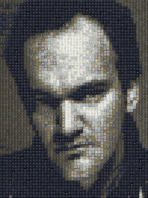 Quentin-Tarantino-Keyboard-Portrait-art