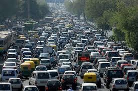 Traffico del mattino nella capitale iraniana