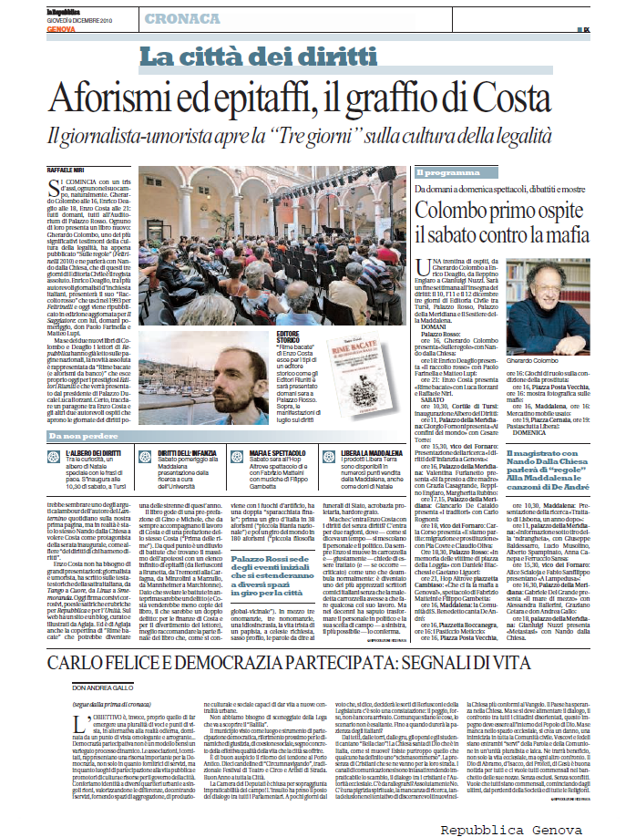 RIME BACATE su Repubblica