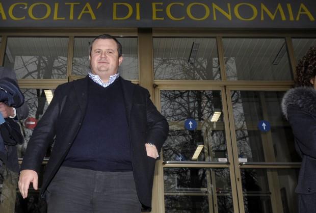 Il presidente del Parma Ghirradi  ( foto marco vasini)