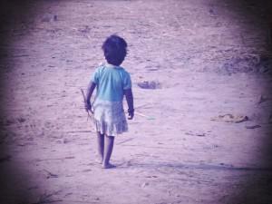 Bambina senza una casa