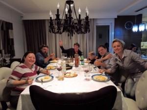 Cena in casa Poffo