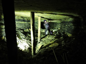 Riproduzione di un minatore al lavoro