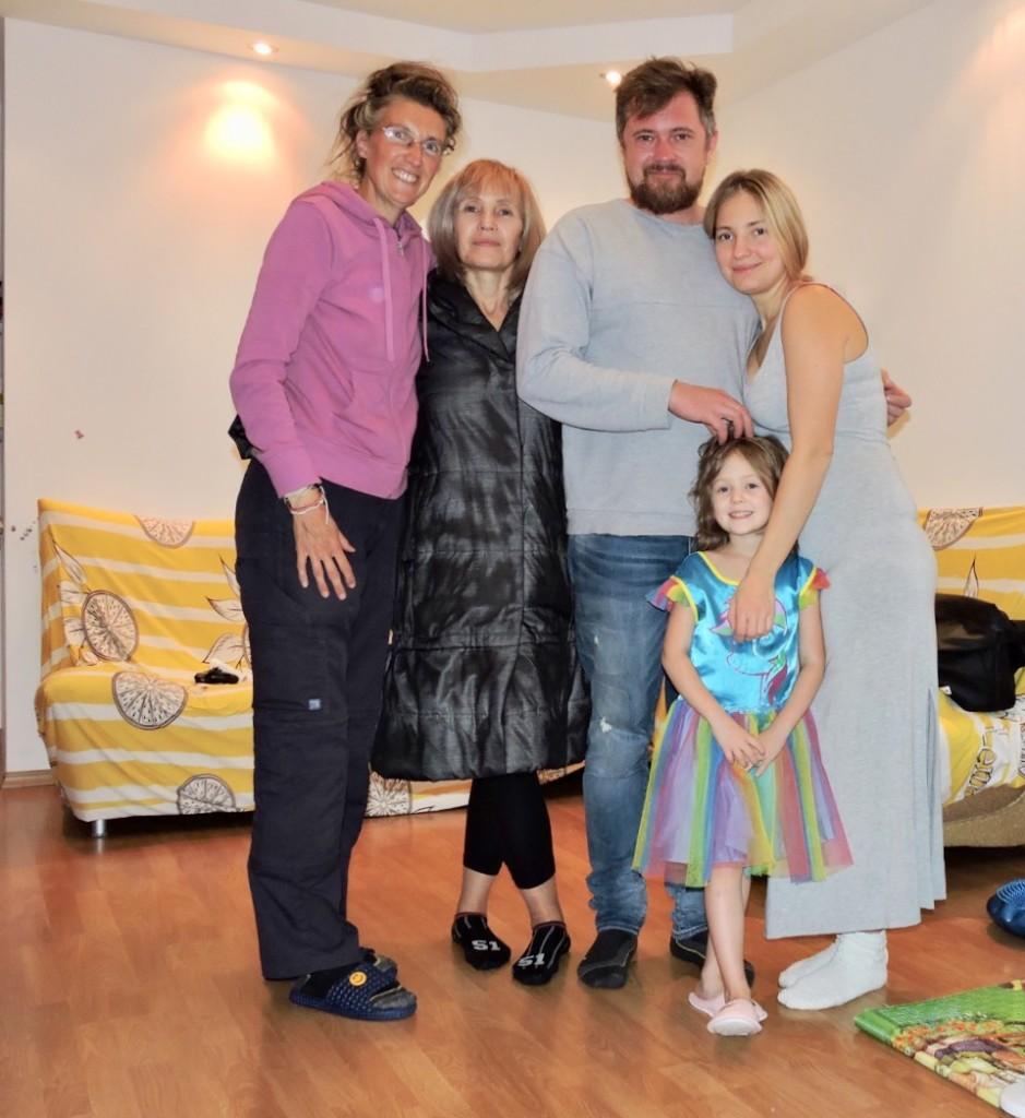 Io con Svetlana, Vladimir, Diana e la piccola Thea